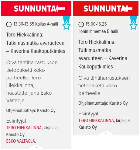 Syksyn kirjamessut - Turussa 7.10.2018 ja Helsingissä 25.10.2018
