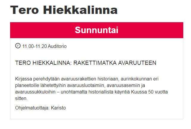 Syksyn 2019 kirjamessut ja lasten ja nuorten festivaali Kirjahyrrä